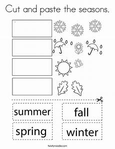 seasons worksheets cut and paste 14760 cut and paste the seasons coloring page twisty noodle