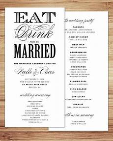 35 simple wedding reception program sle ideas wedding programs wedding reception program