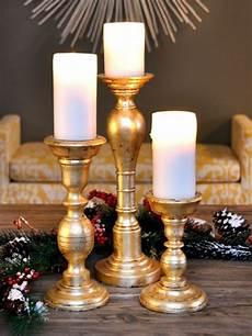 Kerzenständer Weihnachtlich Dekorieren - kerzenst 228 nder basteln gold dekorieren weihnachten