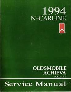 how to download repair manuals 1994 oldsmobile achieva auto manual 1994 oldsmobile achieva factory service manual 2 volume set