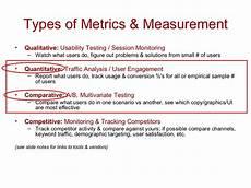 types of metrics measurement