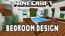 minecraft tutorial how to make a modern bedroom design modern house build ep 15 youtube