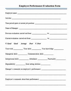free 4 employee performance appraisal form templates in pdf