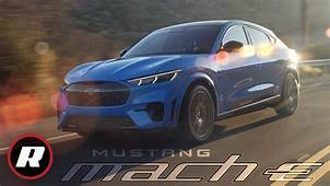 2021 Ford Mustang Mach E Fords Electric