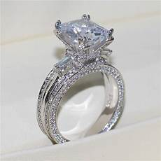 bamos simple white cz ring classic wedding rings exquisite