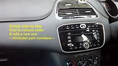 fiat punto evo 2009 2015 radio removal refit guide