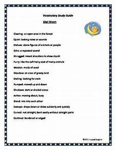 owl moon speech language activities homeschool general owl moon language activities