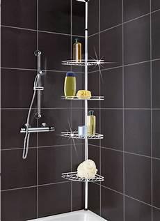teleskop dusch eckregal badezimmer accessoires bader