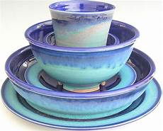 ceramic dinnerware set made to order cobalt blue turquoise