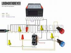 diy stc 1000 2 stage temperature controller wiring diagram with indicator lights loudmouthbrewer
