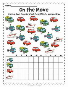free printable transportation count and graph worksheet counting worksheets transportation
