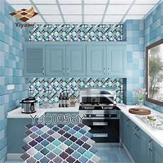 adhesive backsplash diy self adhesive mosaic tile backsplash wall sticker