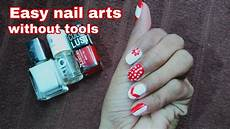 easy nail art at home without tools for beginners