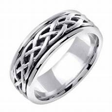 14k white gold men s celtic wedding band free shipping today overstock com 13952933