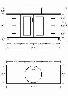 Dimensions Of Bathroom Vanity by What Is The Standard Height Of A Bathroom Vanity