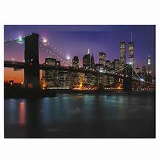 bridge led light up canvas painting picture wall hanging art decor 12 x16 ebay