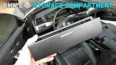 bmw e46 dash center console storage compartment removal