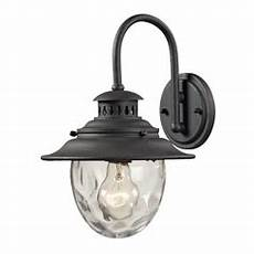 outdoor wall light with clear glass in weathered charcoal finish 45040 1 destination lighting