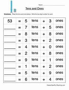 place value worksheets with tens and ones 5333 tens and ones place value worksheet by teaching tpt