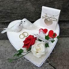 Geldgeschenk Hochzeit Herz Wei 223 Rot Tauben Eheringe