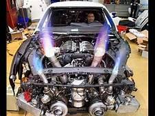 Epic Nissan GTR Exhaust Flames Through Hood  YouTube