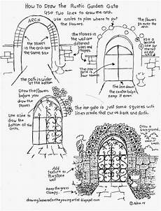 arch worksheets 19288 how to draw the rustic garden gate with a arch how to draw worksheets for artist