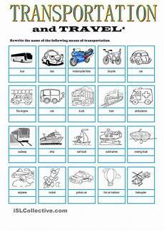 transportation travel vocabulary my english pinterest student centered resources travel