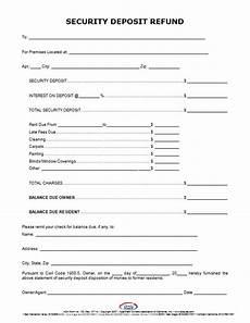 security deposit refund letter