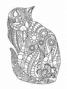 ausmalbilder muster katzen kunst mandala