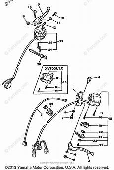 yamaha motorcycle 1984 oem parts diagram for handle switch lever partzilla com