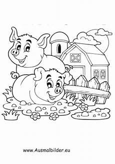 ausmalbilder gl 252 ckliche schweine auf dem bauernhof
