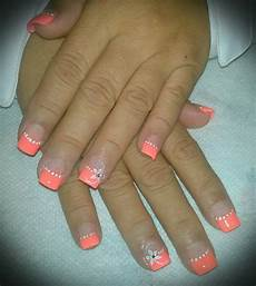 peach color nails full set peach colored nails