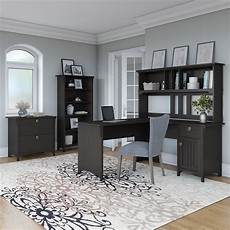 bush home office furniture bush furniture salinas 60w l shaped desk office suite in