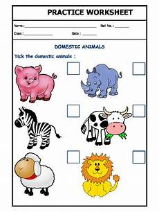 domestic animal worksheets 14291 a2zworksheets worksheet of domestic animals 01 domestic animals animals science