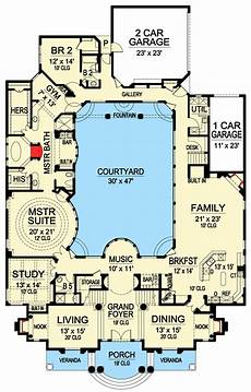 luxury homes floor plans photos luxury with central courtyard 36186tx architectural