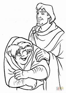 Quasimodo Malvorlagen Chord Quasimodo And The Captain Phoebus De Chateaupers Coloring