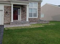 Front Door Entrance Patio brick paver patio in lake landscaping and