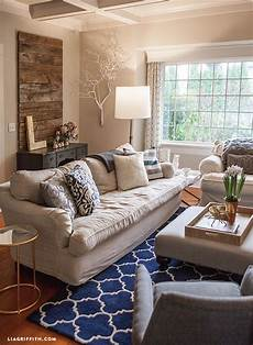 Navy Blue Home Decor Ideas by My Home Tour My Living Room In Navy And Gold Lia Griffith