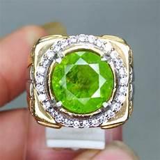 cincin batu permata hijau peridot asli kode 1273 wahyu mulia