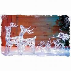 grand traineau pere noel lumineux deco exterieure traineau avec 2 rennes acrylique lumineux achat vente