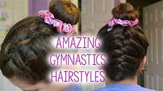 3 hairstyle ideas for gymnasts youtube