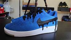 custom nike air 1 quot blue flyknit quot time lapse