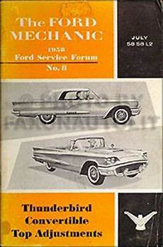 buy car manuals 1958 ford thunderbird on board diagnostic system 1958 ford thunderbird convertible top adjustment manual original t bird service ebay