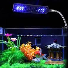 48 led clip aquarium light for fish tanks white blue color lighting walmart com