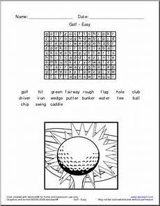 word search golf terminology easy abcteach
