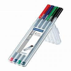staedtler triplus fineliner pen assorted box of 4 334sb4
