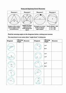 geometry worksheets circles high school 653 circle theorems complete lesson 2 circle theorems geometry lessons teaching geometry