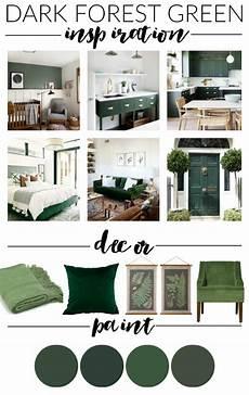 dark hunter green paint decor and inspiration little