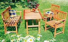 Gartenmöbel Set Holz - g 252 nstige gartenm 246 bel sets gartenm 246 bel set aus holz mit