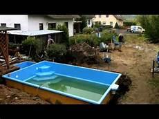 pool zum einbauen projekt pool der einbau tag 6